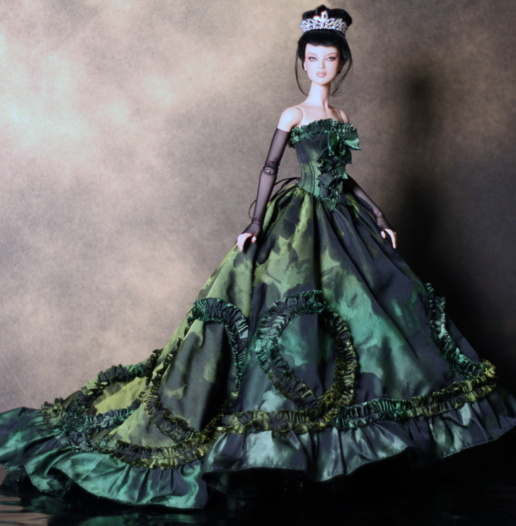 Evergreen OOAK Holiday gown