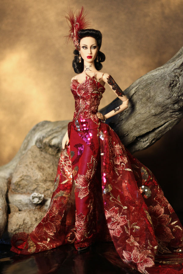 Flamme Framboise OOAK gown for Sybarite